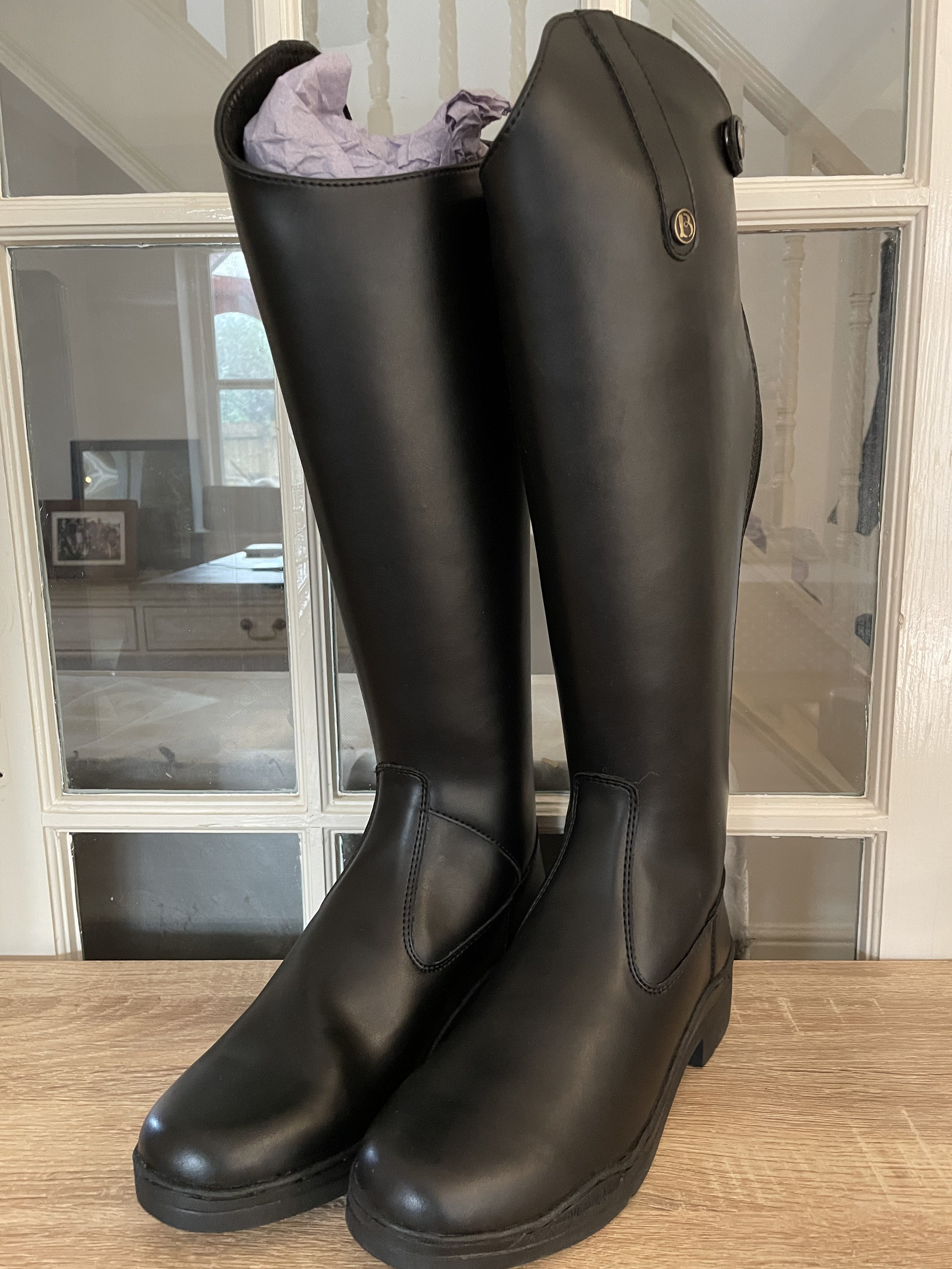 Brogini Synthetic Long Boot, Black, Size 6 (Copy)